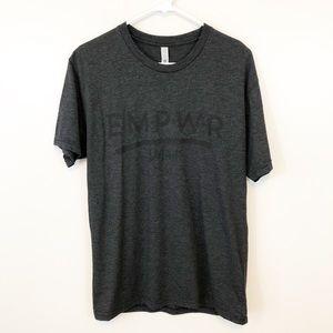 Empower Detroit Gray Graphic Tee Shirt Medium